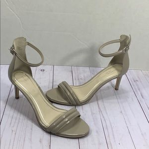 Kenneth Cole gray nude heeled sandals